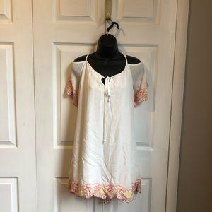 Large white womens sun dress